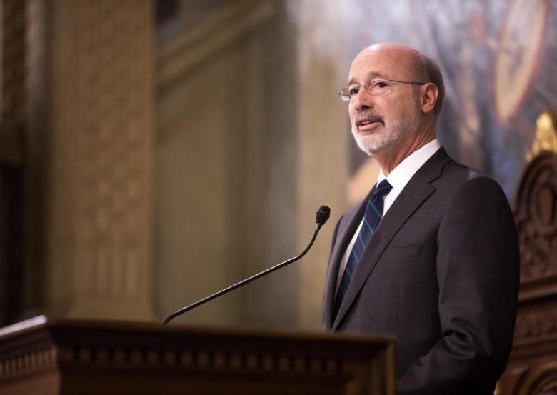 Governor Wolf at his budget address on Tuesday, Feb. 6, 2018.