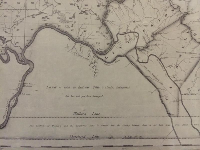Slideshow  8 Historic Maps of the Four Rivers Region   WKMS A Map of the State of Kentucky from Actual Survey  1818  Luke Munsell
