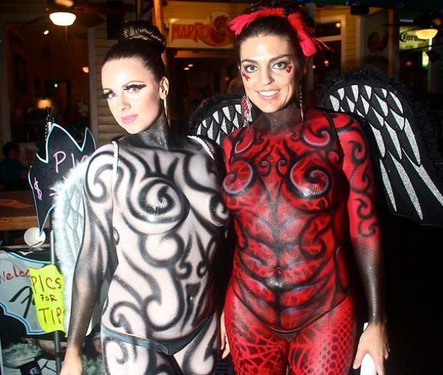 Two Participants Of Fantasy Fest