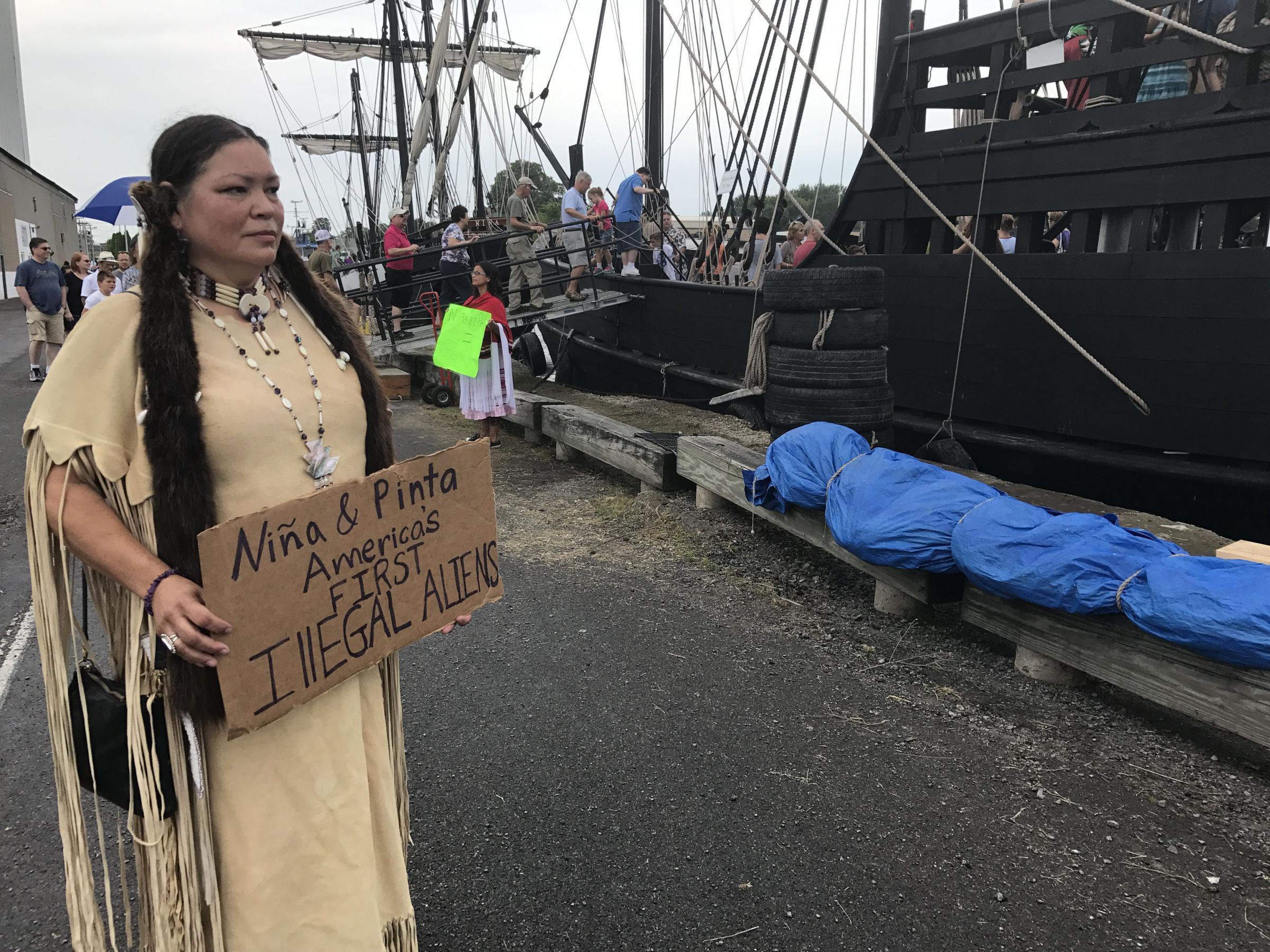 Columbus Ship Replicas Sail Great Lakes And Native