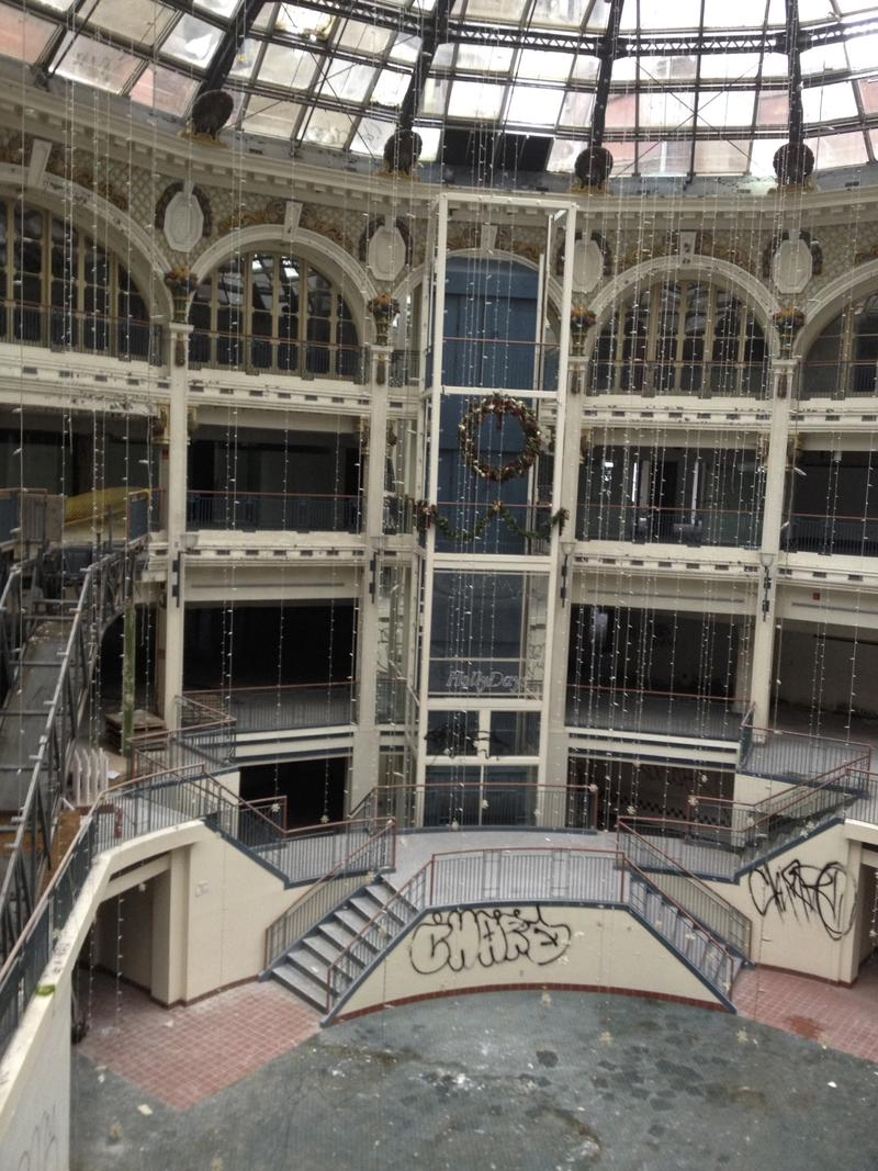 The rotunda section of the Arcade is in urgent need of repair. downtown dayton