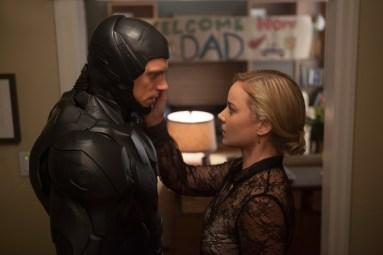 "Joel Kinnaman and Abblie Cornish star in Columbia Pictures' ""Robocop."""