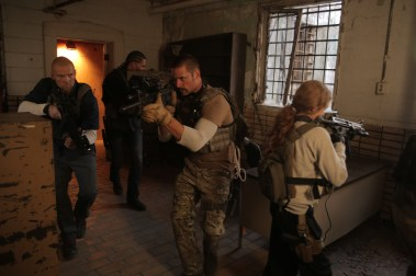 "Images from the new Arnold Schwarzenegger film ""Sabotage"""