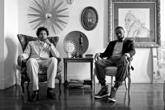 At home with James Reynolds and son Jerome Williams. Harlem, NY.