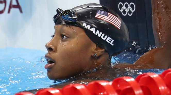 Simone Manuel becomes the first African American female swimmer to win an olympic gold medal