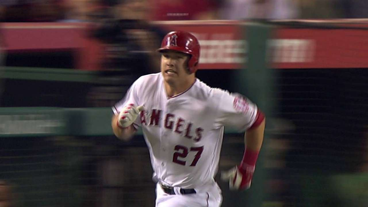 Trout's triple to the gap