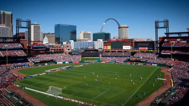 Watch Busch Stadium Get All Dressed Up For A US Mens