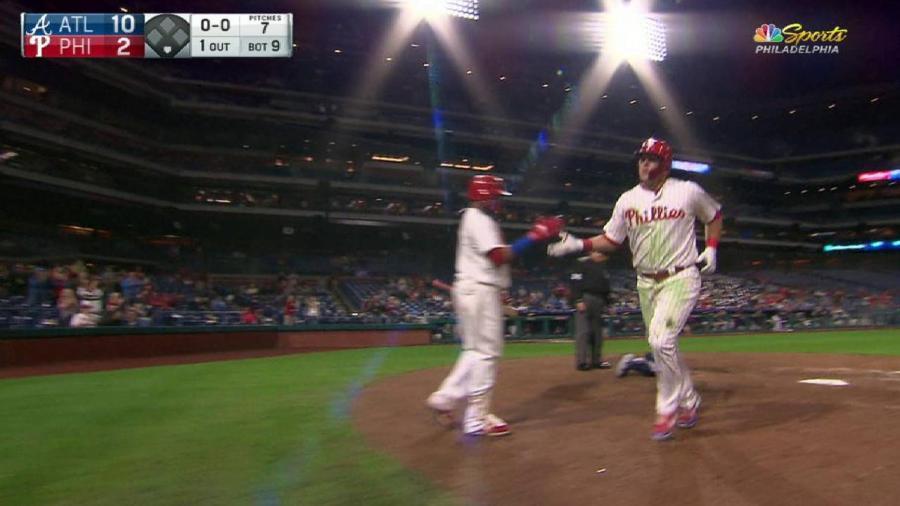 Hoskins' 34th home run