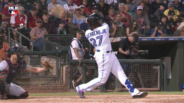 Guerrero Jr. doubles, advances