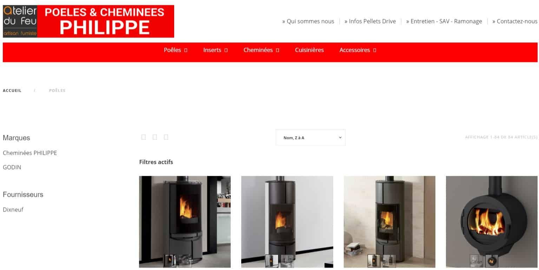 référencement Google - Site internet Paris Lyon, présentation de quelques poêles à granulés bois