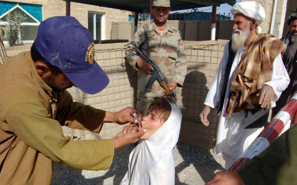 Pakistan Afghanistan border, Polio, Security, Polio workers