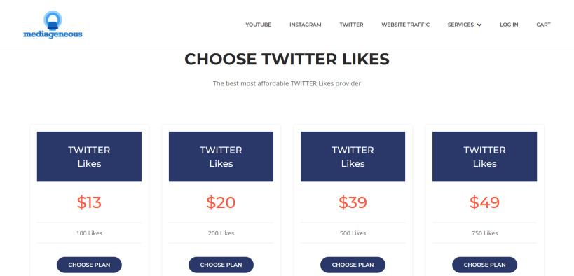 Buy twitter likes for your posts