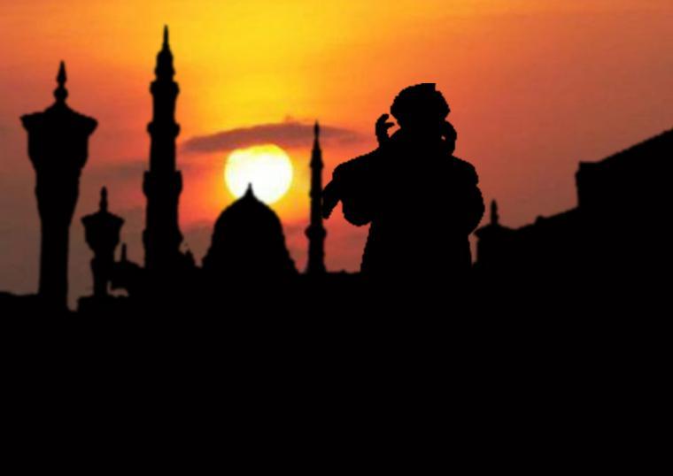 Hasil gambar untuk gambar tentang orang berdoa setelah mendengar adzan