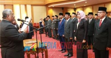 Gubernur Sultra melantik Pj Sekda Sultra bersama 42 pejabat eselon III lainnya