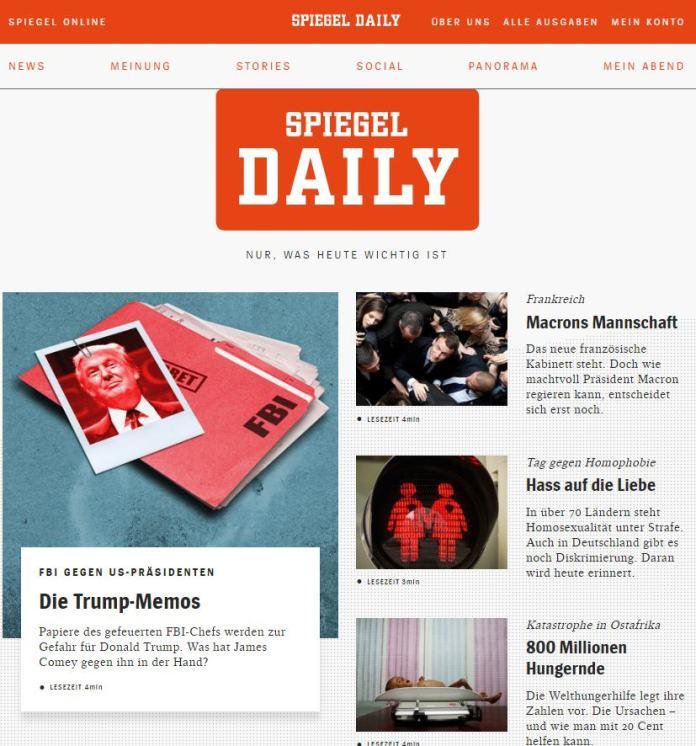 Der spiegel experimenta con un diario online vespertino y for Spiegel daily