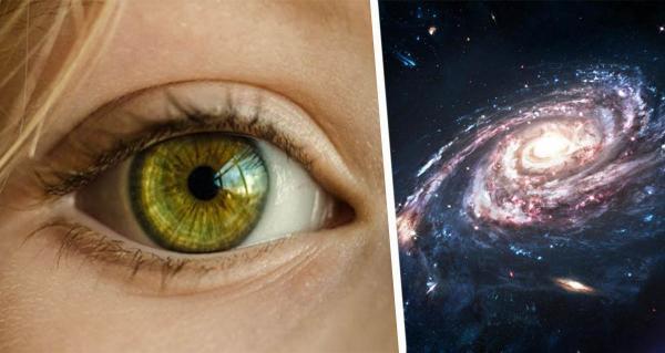 Девушка показала свои глаза после лечения катаракты. В них можно увидеть космос, потому что они сами - звёзды