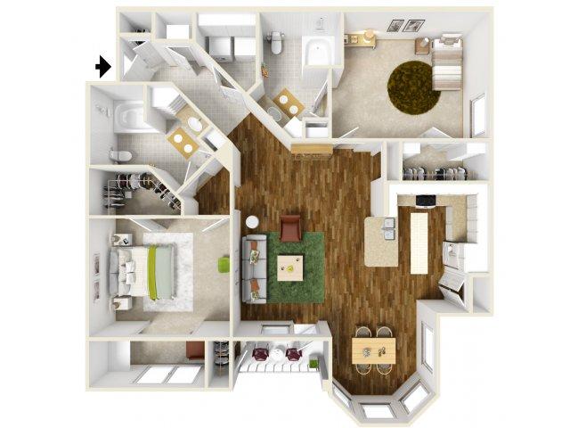 2 Bed / 2 Bath Apartment In Richmond TX