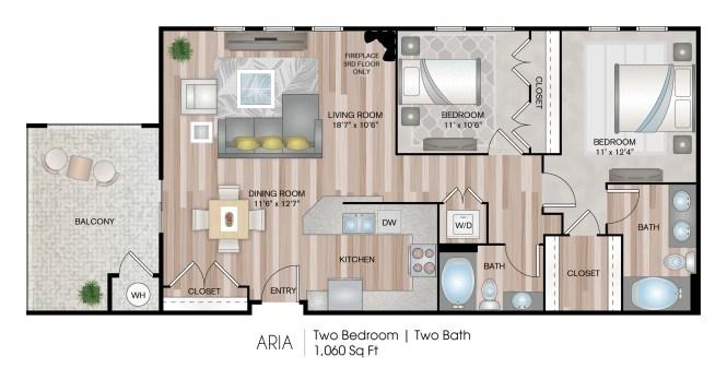 2 Bed Bath Apartment In Oxnard Ca Serenade At