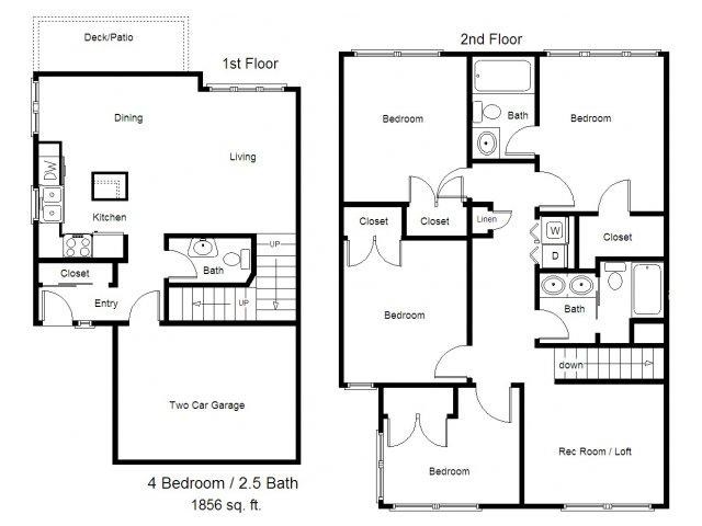 4 bed / 2.5 bath apartment in albertville mn | albertville meadows