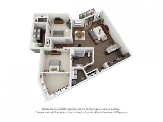 2 Bed   2 Bath Apartment in INDIANAPOLIS IN   The Coil All Floor Plans2 F