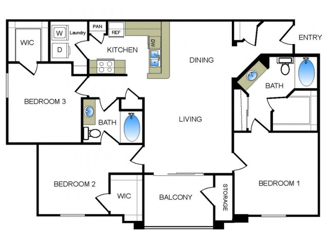 floorplans at the reserve at las brisas apartments | irving, tx