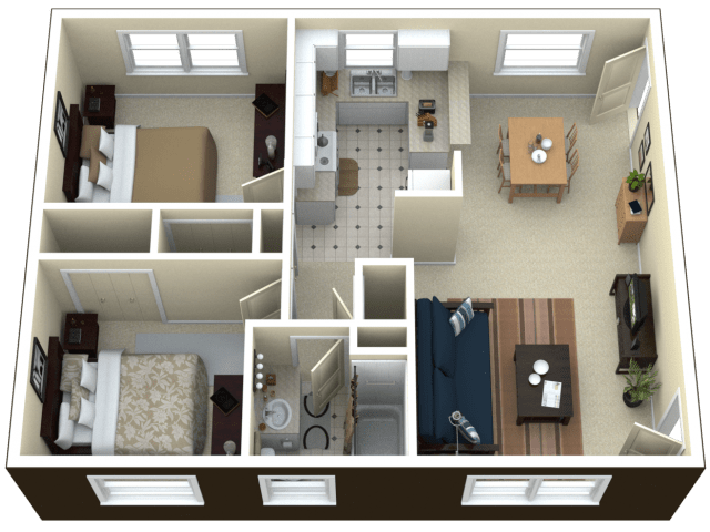 2 Bed / 1 Bath Apartment In Royal Oak MI