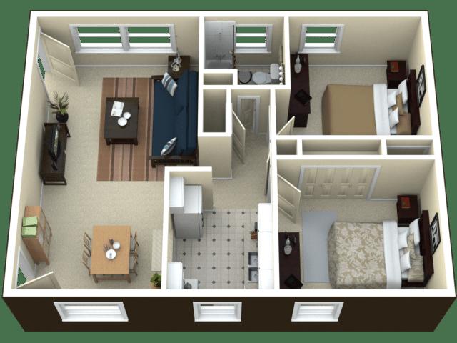2 Bed 2 5 Bath Floor Plans Dimensions