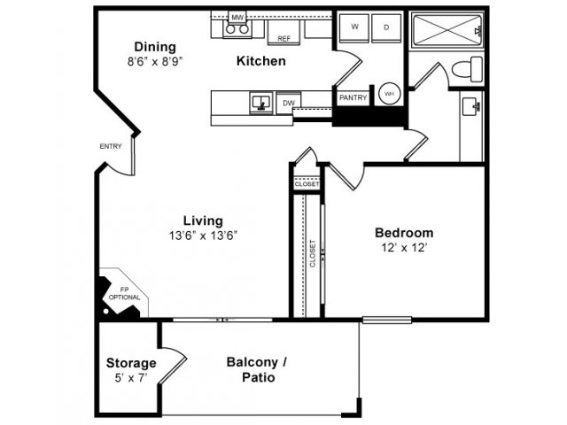 1 Bed / 1 Bath Apartment In Sunnyvale CA