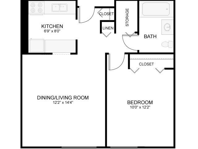 1 Bed / 1 Bath Apartment In Arlington MA