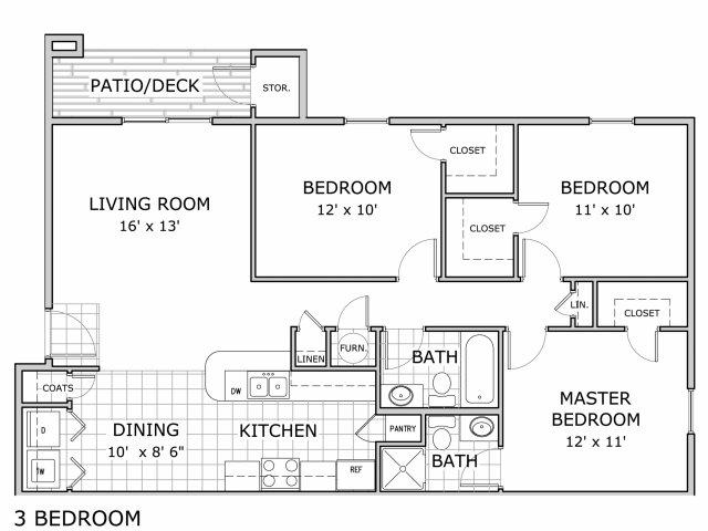 0 For The 3 Bedroom Floor Plan