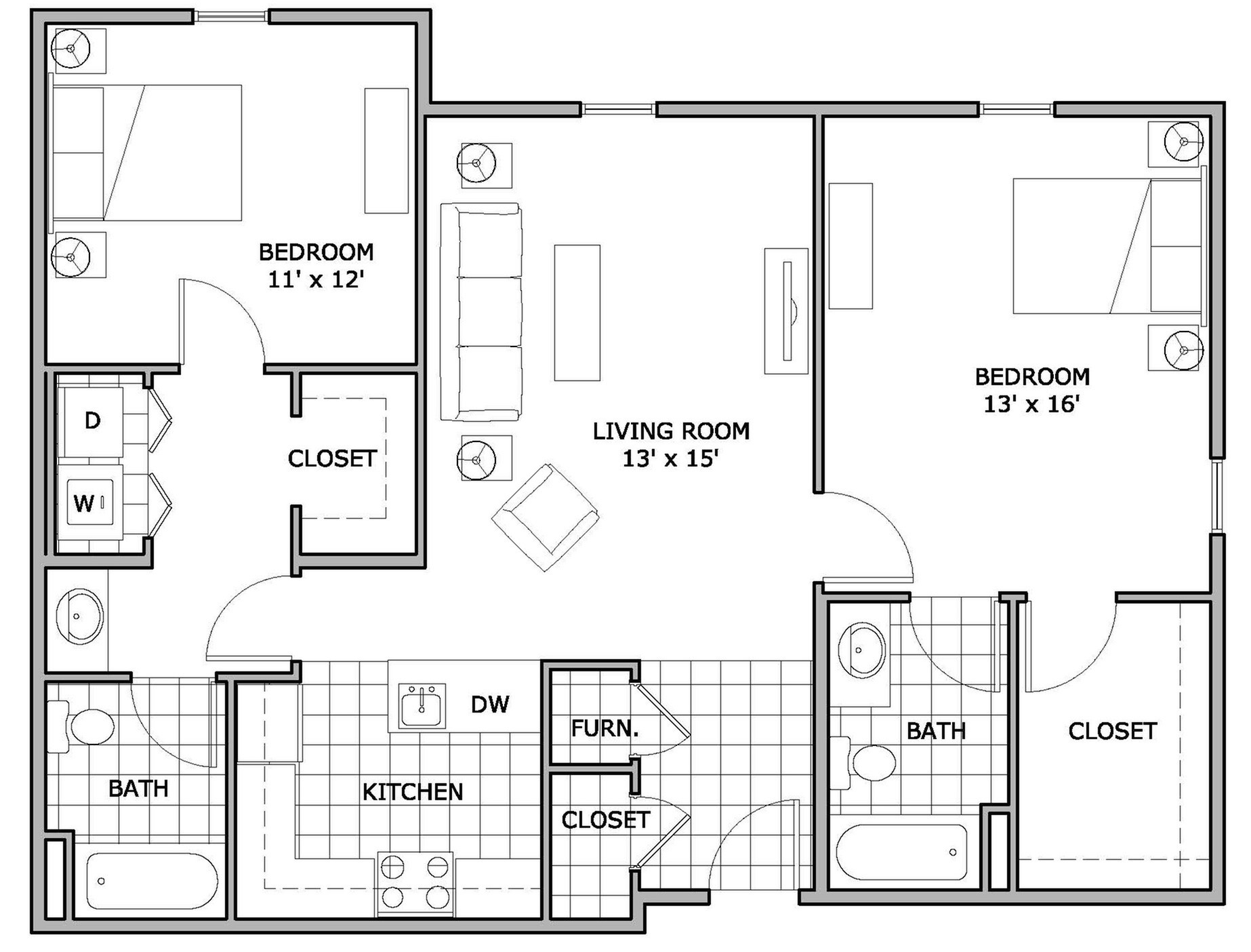 2 Bed / 2 Bath Apartment In Springfield MO