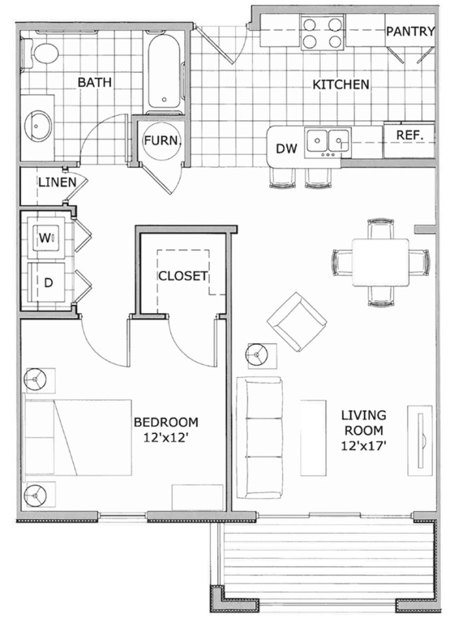 1 Bedroom Deluxe Phase 2 Bed