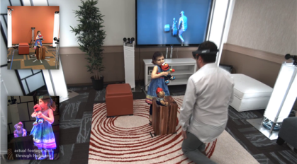 Demonstration der Holoportation (Quelle: Microsoft Research/I3D)