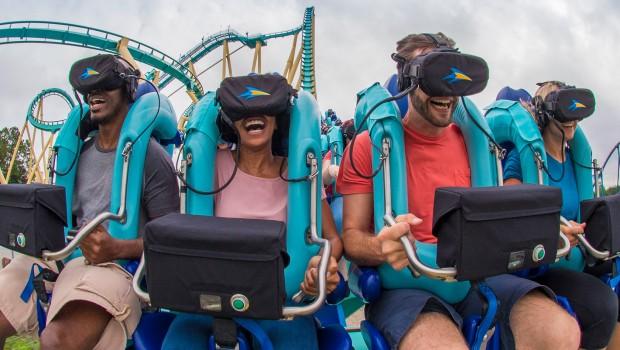 Virtual Reality Achterbahn