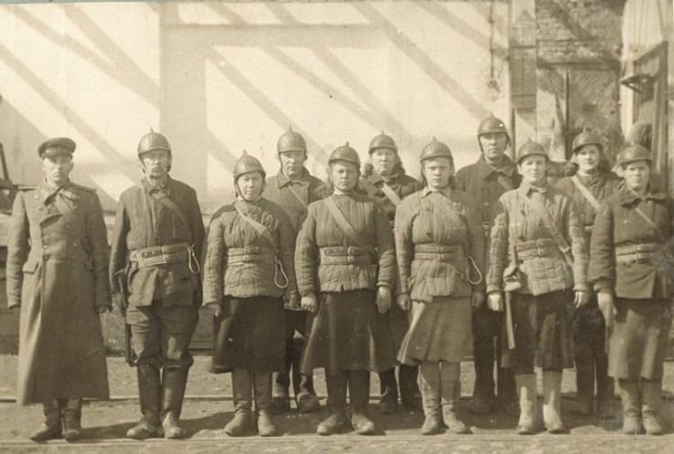 Бойцы МПВО Ленинграда
