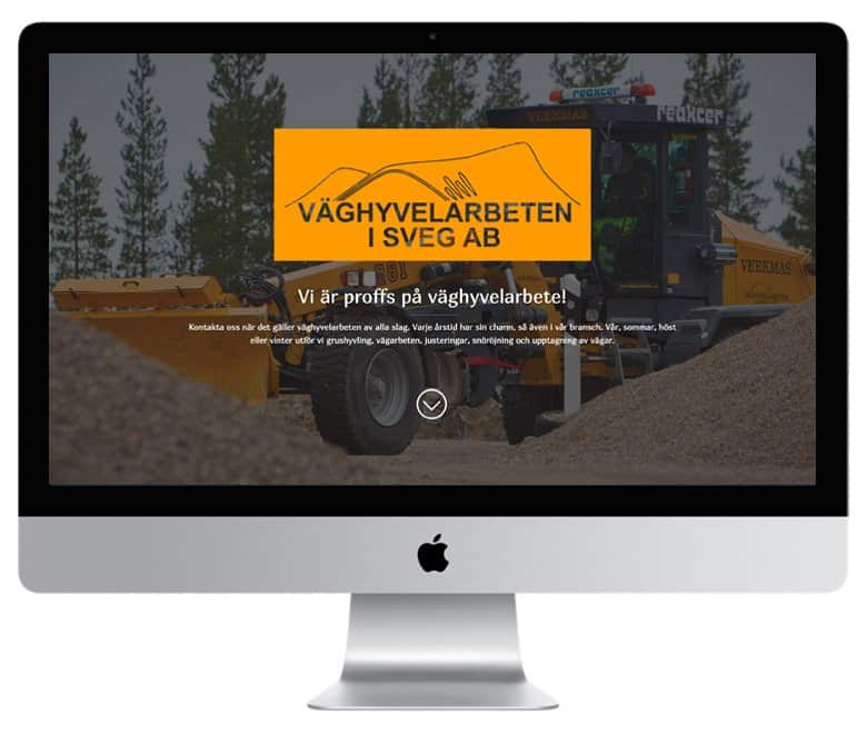 Gör som Väghyvelarbeten i Sveg anlita Mediamakarna Grip att bygga er hemsida. Vi bygger med WordPress.