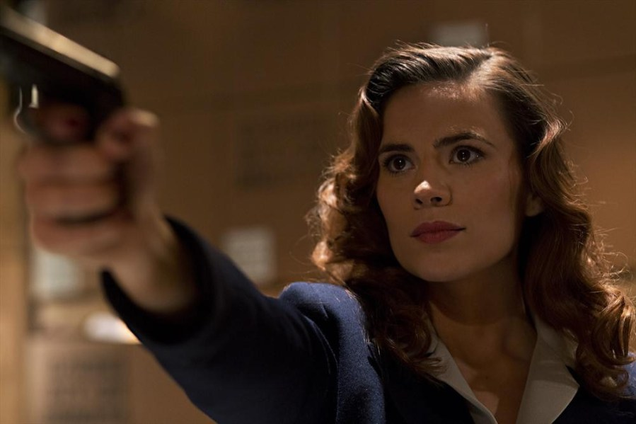 "MARVEL'S AGENT CARTER - ""Marvel's Agent Carter,"" starring ""Captain America's"" Hayley Atwell, follows the story of Peggy Carter. It's 1946, and peace has dealt Peggy Carter a serious blow as she finds herself marginalized when the men return home from fighting abroad. Working for the covert SSR (Strategic Scientific Reserve), Peggy must balance doing administrative work and going on secret missions for Howard Stark all while trying to navigate life as a single woman in America, in the wake of losing the love of her life - Steve Rogers. Inspired by the feature films ""Captain America: The First Avenger"" and ""Captain America: The Winter Soldier,"" along with the short ""Marvel One-Shot: Agent Carter."" (Marvel/Katrin Marchinowski)"