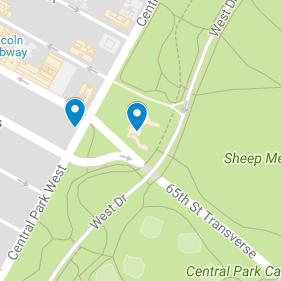 55 Central Park West Map