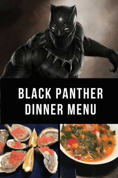 Black Panther Dinner Menu