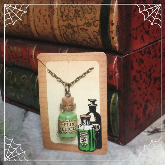 Felix Felicis Potion Bottle Necklace
