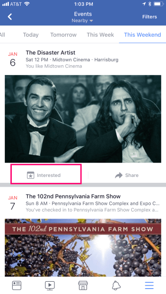 Interested in Facebook Events