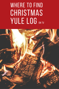 Where to Find a Christmas Yule Log on TV