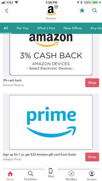 Amazon Shopping on ibotta