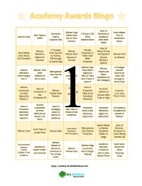 Oscar Bingo Cards 1