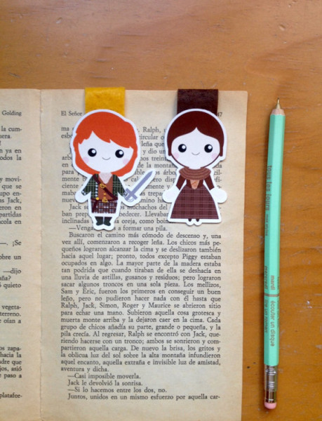 Jamie Fraser and Claire Fraser Bookmarks