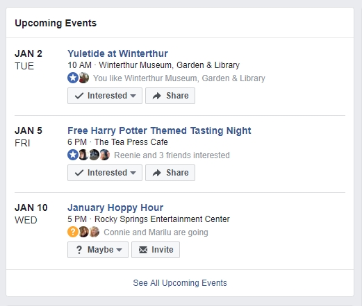 Your Facebook Events