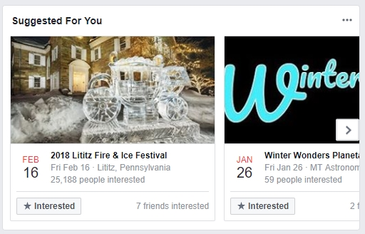 Suggested Facebook Events