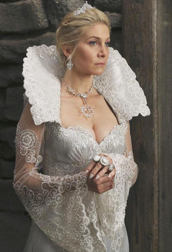 "ONCE UPON A TIME - ""Family Business"" - The race is on to track down the elusive Snow Queen, who was once a foster mother to a young Emma - whose memories of this event have been erased - in order to discover what her ultimate end game is for Elsa and the residents of Storybrooke, and unaware that she does not possess the real blade that controls The Dark One, Belle attempts to use it to get her reluctant husband to show her where the Snow Queen is hiding. Meanwhile, back in the past, Belle travels to Arendelle and, with Anna's help, seeks out Grand Pabbie to help her regain her lost memories in order to discover the fate of her mother, on ""Once Upon a Time,"" SUNDAY, NOVEMBER 2 (8:00-9:00 p.m., ET) on the ABC Television Network. (ABC/Jack Rowand) ELIZABETH MITCHELL"