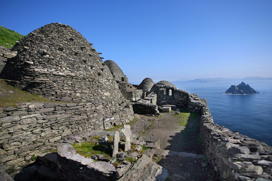 The monastic Island, Skellig Michael founded in the 7th century, for 600 years the island was a centre of monastic life for Irish Christian monks. The Celtic monastery, which is situated almost at the summit of the 230-metre-high rock became a UNESCO World Heritage Site in 1996. It is one of Europe's better known but least accessible monasteries.Photo:Valerie O'Sullivan