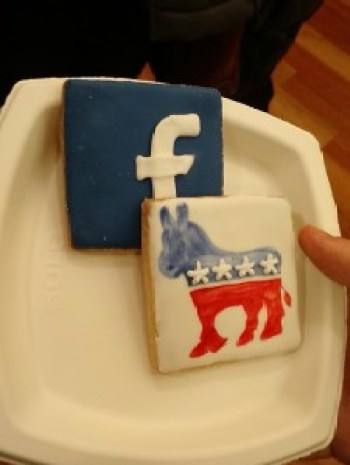 Facebook and Democrat cookies. Photo by Ean Holtz.